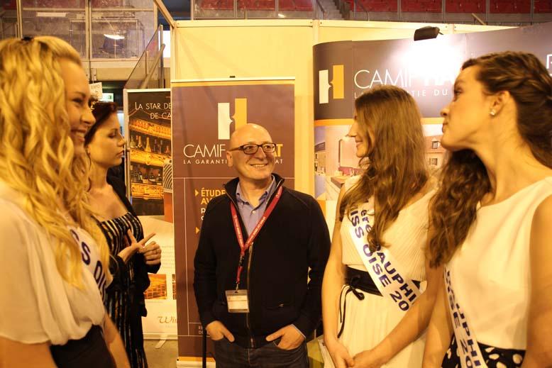 Foire de Beauvais visite de Miss Oise 2014 -12