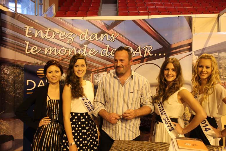 Foire de Beauvais visite de Miss Oise 2014 -2