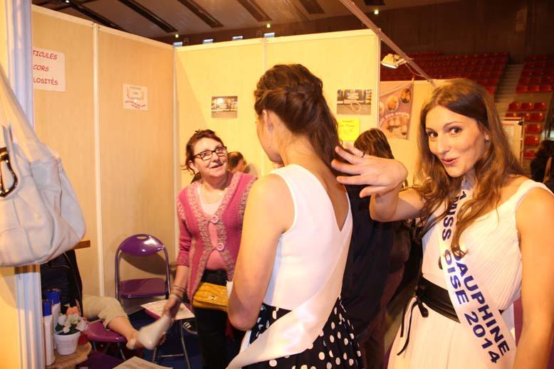 Foire de Beauvais visite de Miss Oise 2014 -36