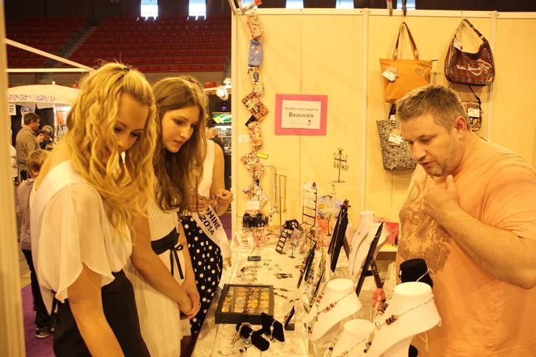 Foire de Beauvais visite de Miss Oise 2014 -7