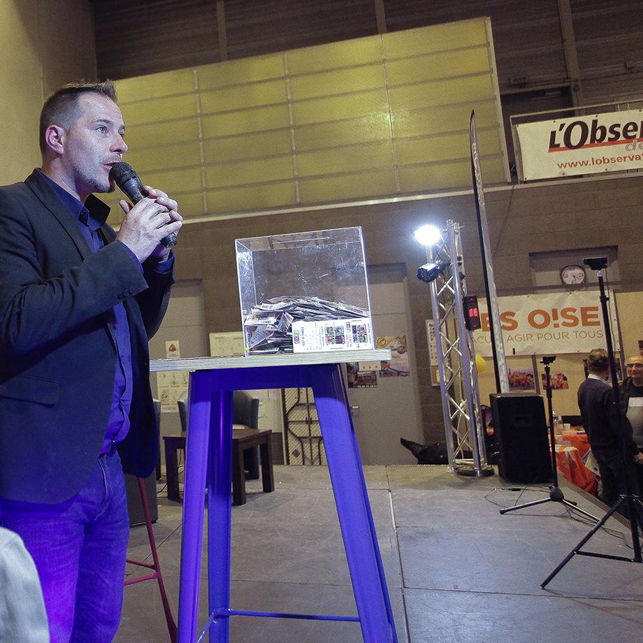 Annonce des gagnants de la tombola sur EXPO60 Oise