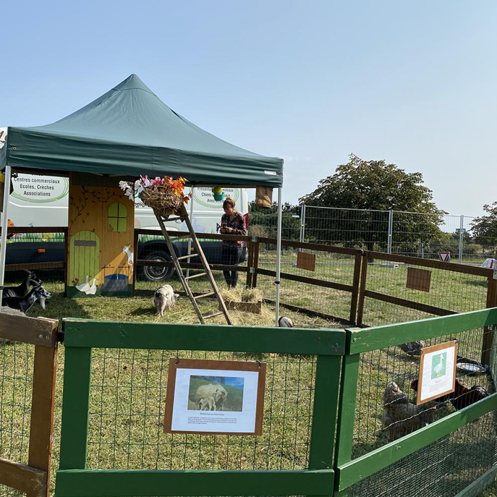 Mini ferme à l'Elispace de Beauvais dans l'Oise